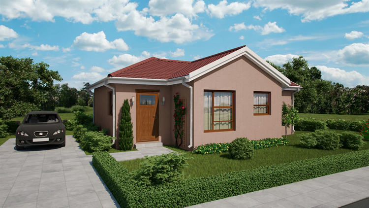 3 bedroom 1 bathroom family home affordable housing for Affordable garage plans