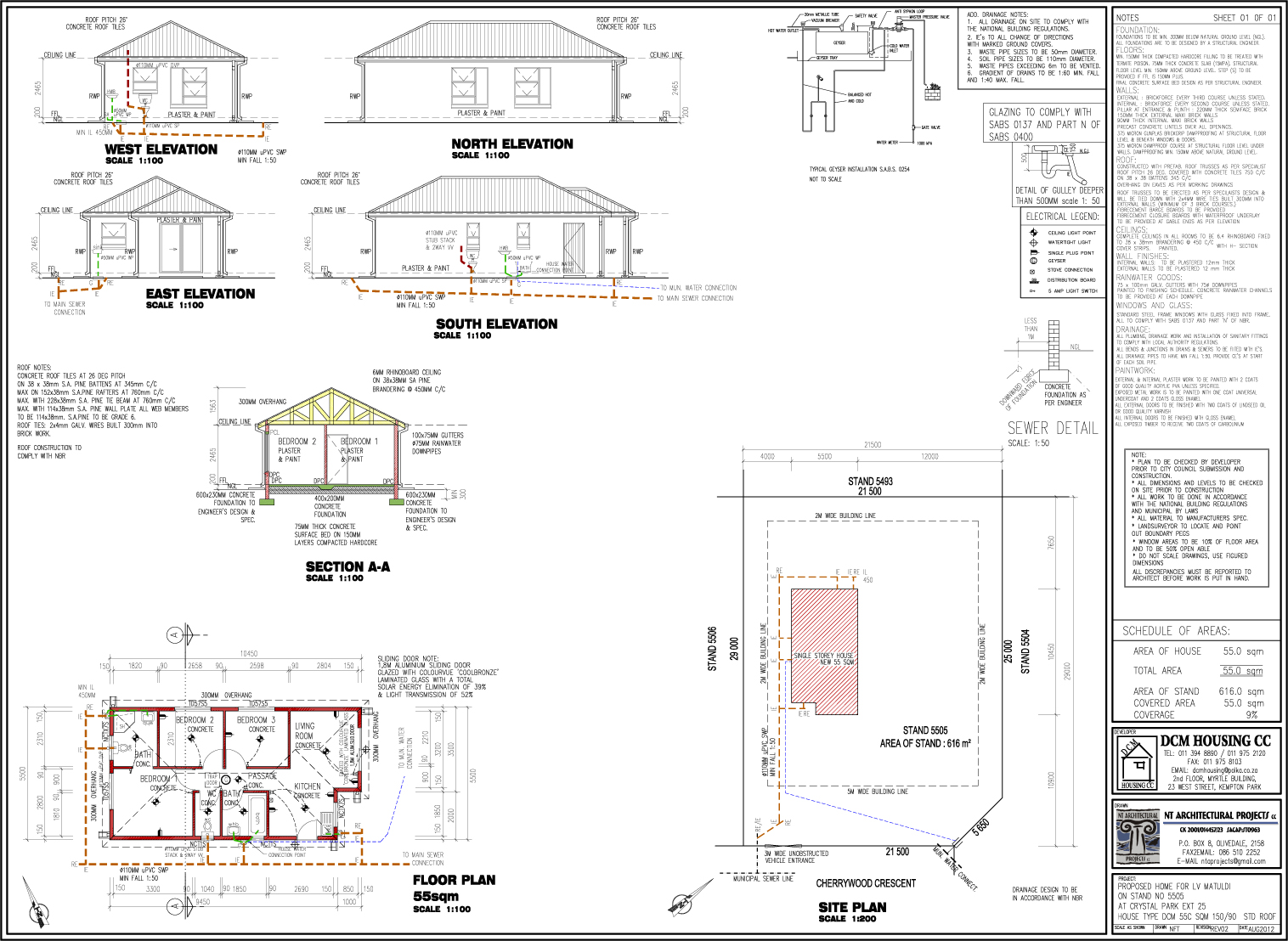 3 bedroom 3 bathroom house affordable housing new for Sa house plans gallery